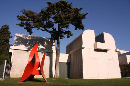 naif: Joan Miro Foundation Museum in the mountain of Montjuic, Barcelona, Catalonia, Spain. Photo taken on: Oct 30, 2009
