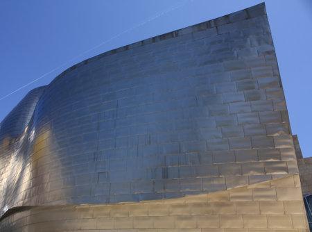 Detail of the facade of titanium the Guggenheim Museum, Bilbao, Euskadi, Spain. Photo taken on: May 22nd, 2010 Stock Photo - 8822148