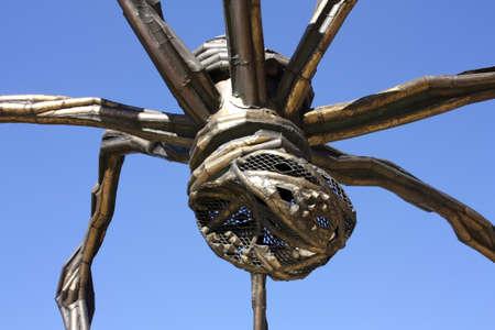 The giant spider Mama, the artist Louise Bourgeois. The Guggenheim Museum, Bilbao, Euskadi, Spain. Photo taken on: May 22nd, 2010