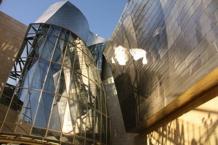 titanium: Detail of the facade of titanium the Guggenheim Museum, Bilbao, Euskadi, Spain Photo taken on: May 22nd, 2010  Editorial