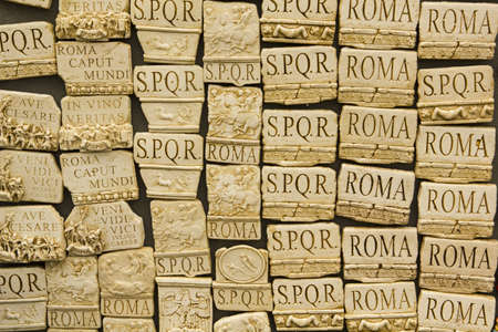set of souvenirs of Rome, Italy, inspired by the Roman Empire photo
