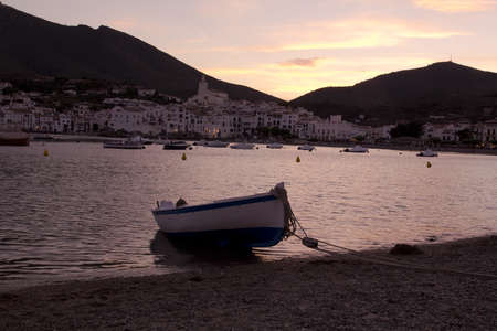 down lights: Cadaques, a small coastal town, is the small town of the Catalan painter Salvador Dali Stock Photo