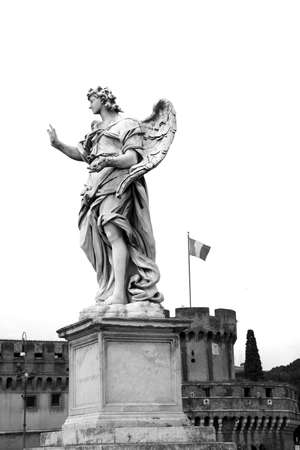 spqr: Estatua del �ngel, Ponte Sant Foto de archivo
