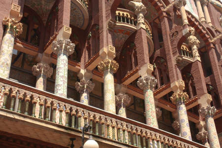 Facade of Catalan Music Palace in Barcelona
