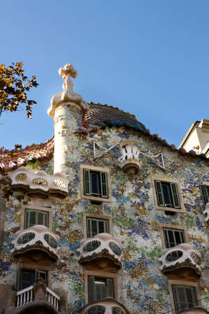 The Casa Batllo (casa is home in Spanish) is a building designed by the architect Antoni Gaudi, leader of the Catalan Modernism. The building was constructed between 1904 and 1906. Photo taken on: Dec 1, 2009