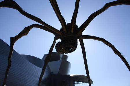 The giant spider Mama, the artist Louise Bourgeois. the Guggenheim Museum, Bilbao, Euskadi, Spain. Photo taken on: May 22nd, 2010, in Bilbao, Spain.
