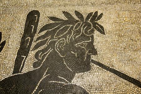 Roman Mosaic, Rome. II century AD. Photo taken on March 18, 2011, in Vatican Museum, Vatican City.