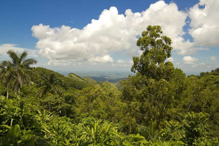 sierra: View of the Sierra of Escambray, Cienfuegos Province, Cuba Stock Photo