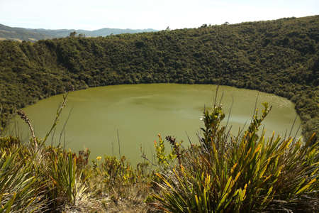 rites: It was the sacred lake and center of the rites of the Indians Muiscas (Chibcha).