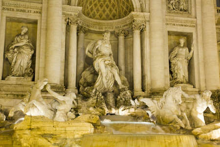 fontana: Trevi Fountain , Fontana de Trevi. Rome Stock Photo
