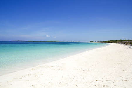 Caribbean beach in the Cayo Santa Maria, in archipelago Jardines del Rey.  Stock Photo
