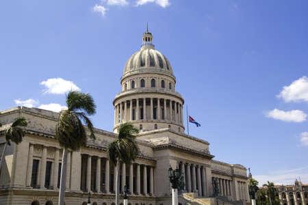 Havana, Cuba - city architecture. Famous National Capitol (Capitolio Nacional) building.  photo