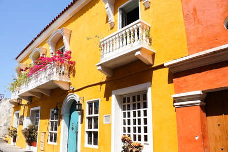 Spanish colonial house. Cartagena de Indias, Colombia photo