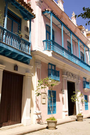 Street of Old Havana. Typical colonial Spanish architecture. Cuba Stock Photo - 11928021