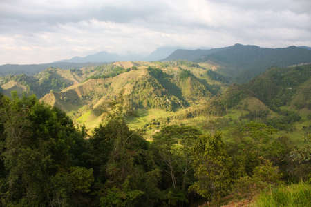 andean: The Andes Mountains from Salento. Quindio province. Colombia.  Stock Photo