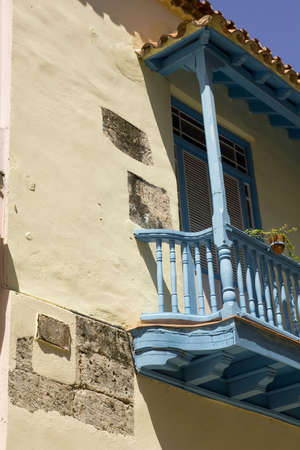 Architectural detail colonial in Old Havana. Cuba photo