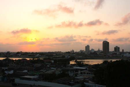 Sunset in Cartagena de Indias. Caribbean colombian. photo
