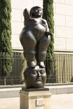 Thought of Fernando Botero, on January 2, 2010 in Medellin, Colombia.  Editorial