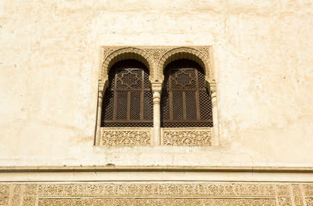 Window in Courtyard of Mexuar  Alhambra, Andalusia, Spain   photo