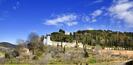 The palace of Generalife  Granada, Andalusia, Spain  photo
