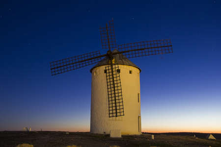 Sunrise in Castile Campo de Criptana, Castile-La Mancha, Spain Stock Photo - 13157057