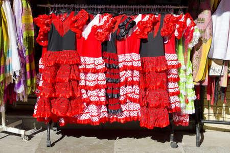 gypsy costume of flamenco dancer photo