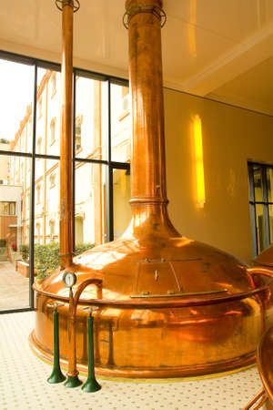 brew house: Old style of brewing beer