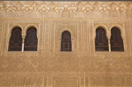 Facade of Comares. Alhambra, Andalusia,Granada, Spain: February 8, 2012