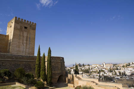 The Alcazaba of the Alhambra and the Albaicin district.  Granada, Spain: February 8, 2012 Stock Photo - 13365535