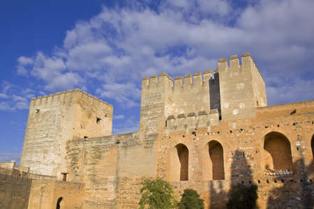 moresque: The Alcazaba fortress, the Alhambra in  Granada, Spain: February 8, 2012