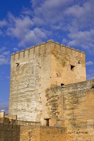 The Alcazaba fortress, the Alhambra in  Granada, Spain: February 8, 2012 Stock Photo - 13365542