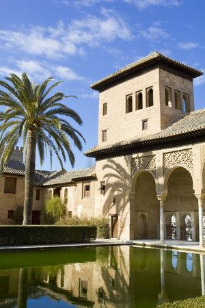 Partal zone. Walk of the Princesses (Paseo de las Infantas). Alhambra in Granada, Spain: February 8, 2012