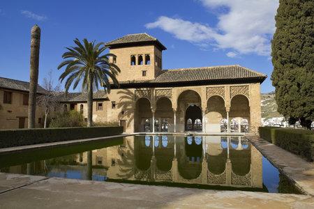 Partal zone. Walk of the Princesses (Paseo de las Infantas). Alhambra in Granada, Spain: February 8, 2012 Stock Photo - 13365532