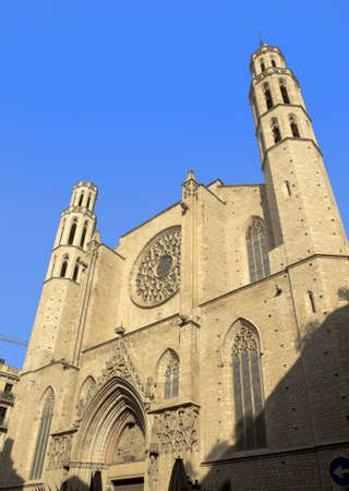 Barcelona - gothic cathedral Santa Maria del mar  Catalonia, Spain   Stock Photo - 13490195