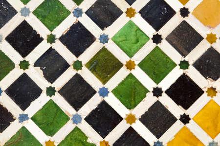 Andalusian mosaic  Granada, Spain photo