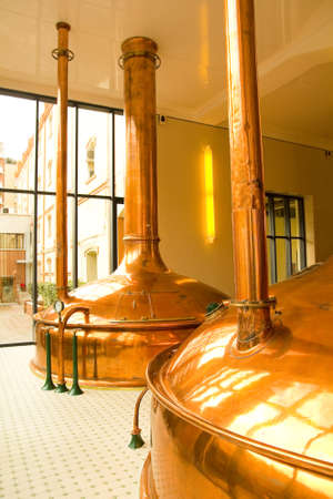 Old style of brewing beer. December 19, 2011 on Barcelona, Catalonia, Spain.  Stock Photo - 13575961