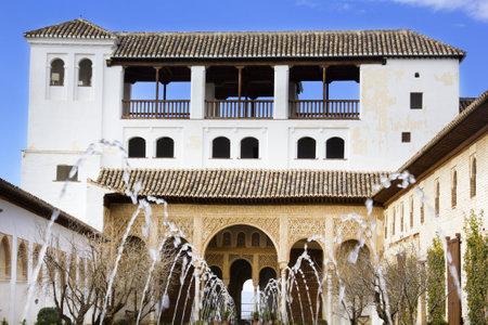 The Court of la Acequia. Generalife, Granada. Spain.