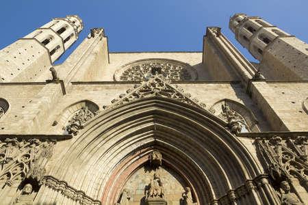 del: Barcelona - gothic cathedral Santa Maria del mar. Catalonia, Spain.