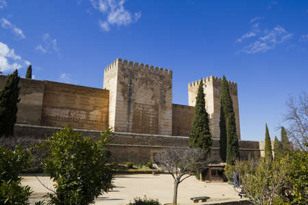The Alcazaba fortress, the Alhambra in Granada, Andalucia, Spain