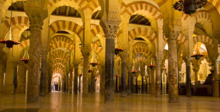 andalucia: The Great Mosque or Mezquita famous interior in Cordoba, Spain