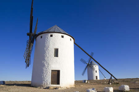 Campo de Criptana, Castile-La Mancha, Spain In Campo de Criptana where Don Quixote mistakes windmills for giants, in the book of Miguel de Cervantes  photo