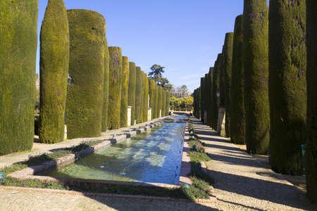 The gardens of the alcazar de los Reyes Cristianos in Cordoba, Spain Stock Photo - 14439590