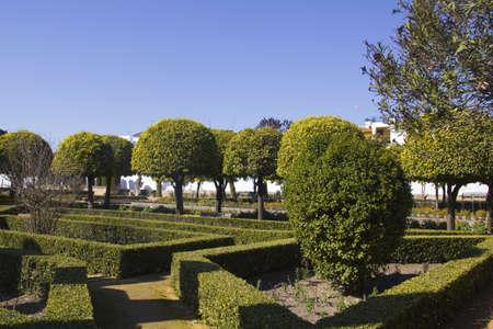 patrimony: The gardens of the alcazar de los Reyes Cristianos in Cordoba, Spain