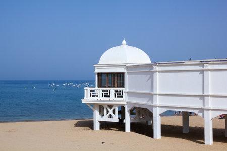 cadiz: Old resort on the beach of Caleta, Cadiz, Andalusia, Spain