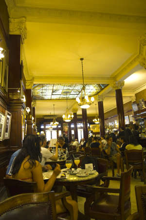 Cafe Tortoni, in May avenue, Buenos Aires, Argentina   September 2012 Stock Photo - 16070182