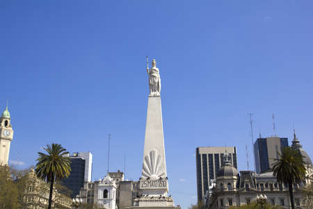 aires: May square and the may pyramid, Buenos Aires, Argentina