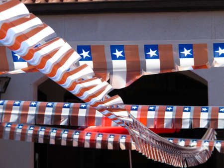 Celebration of national holidays in Chile Small ornamental flags  photo