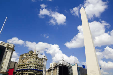 Obelisco  Avenida 9 de Julio is a wide avenue in the city of Buenos Aires, Argentina  Its name honors Argentina