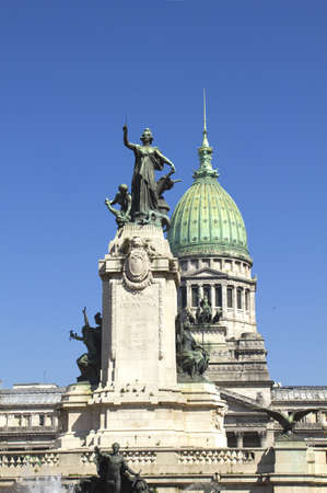 Congress square monument in Buenos Aires, Argentina photo