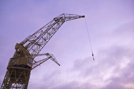 Port crane with dramatic sky photo